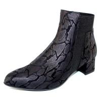 Beautifeel Women's Gael In Black Reptile Printed Leather