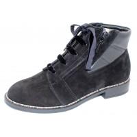 Beautifeel Women's Hester In Black Suede/Leather