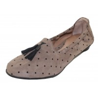 Beautifeel Women's Holly In Fall Taupe Printed Suede/Black Dots