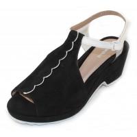 Beautifeel Women's Jess In Black Suede/White Leather