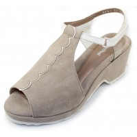 Beautifeel Women's Jess In Tahini Suede/White Leather