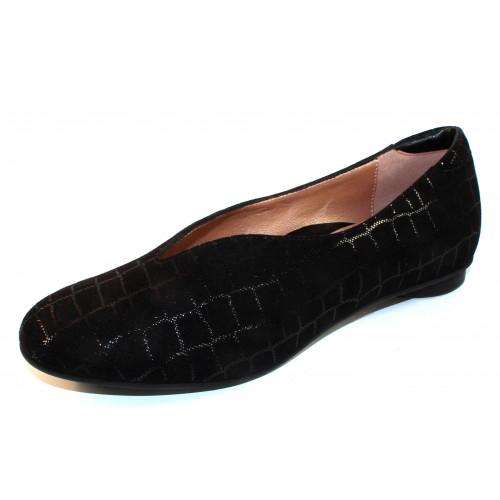 Beautifeel Women's Jolie In Black Croco Embossed Suede