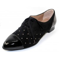 Beautifeel Women's Lori In Black Patent Leather/Printed Suede/Bronze