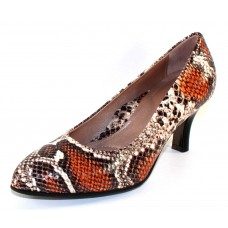 Beautifeel Women's Lotus In Natural Multi Colored Snake Printed Leather