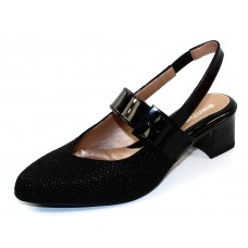 Beautifeel Women's Maisy In Black 3D Scale Printed Leather/Patent Leather