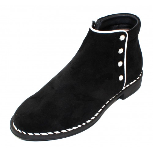 Beautifeel Women's Marlowe In Black Suede/White Leather