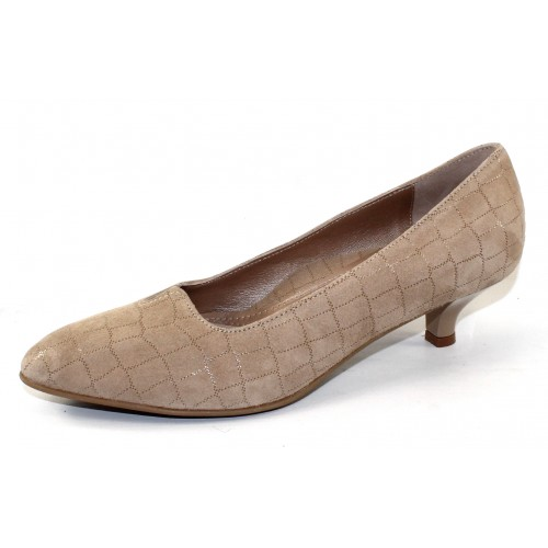 Beautifeel Women's Mystique In Champagne Cocco Print Embossed Suede