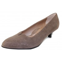 Beautifeel Women's Mystique In Fall Taupe Linear Suede