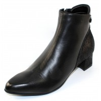 Beautifeel Women's Nadin In Black Calf Leather/Embossed Suede