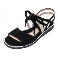 Beautifeel Women's Peppa In Black Suede/Nude Mesh