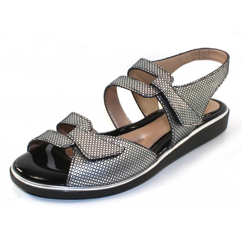 Beautifeel Women's Poppy In Pewter Pixel Embossed Suede
