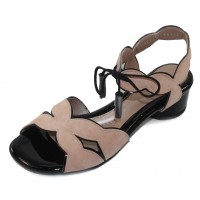Beautifeel Women's Rose In Blush Suede/Black Patent Leather