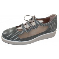 Beautifeel Women's Sage In Forest Green Suede/White Polka Dots