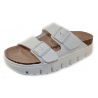 Birkenstock Women's Arizona Chunky By Papillio In White Birki-Flor