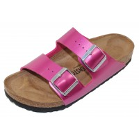 Birkenstock Women's Arizona In Electric Magenta Birki-Flor - Narrow Width