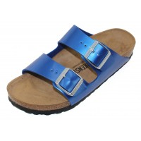 Birkenstock Women's Arizona In Electric Ocean Birki-Flor - Narrow Width