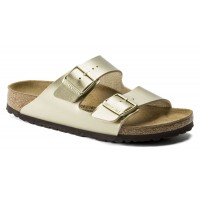 Birkenstock Women's Arizona In Gold Birki-Flor