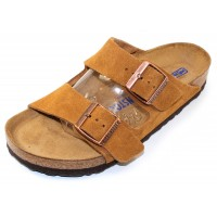 Birkenstock Women's Arizona Soft Footbed In Mink Suede - Regular Width