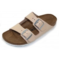 Birkenstock Women's Arizona In Natural Leather - Narrow Width