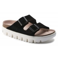Birkenstock Women's Arizona Chunky Platform By Papillio In Black Suede