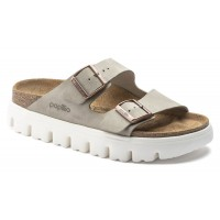Birkenstock Women's Arizona Chunky Platform By Papillio In Taupe Suede