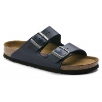Birkenstock Men's Arizona Soft Footbed In Blue Oiled Leather