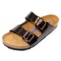 Birkenstock Men's Arizona Soft Footbed In Brown Amalfi Leather - Regular Width