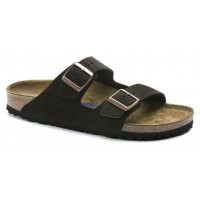 Birkenstock Men's Arizona Soft Footbed In Mocha Suede - Narrow Width