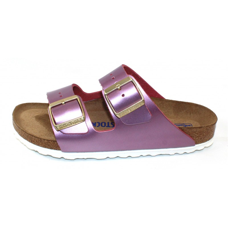 e57bef5ab306 Birkenstock Women s Arizona Soft Footbed In Spectacular Rose Leather -  Narrow Width
