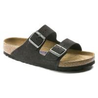 Birkenstock Women's Arizona Soft Footbed In Velvet Gray Suede