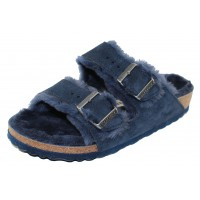 Birkenstock Women's Arizona Shearling In Night Suede/Shearling