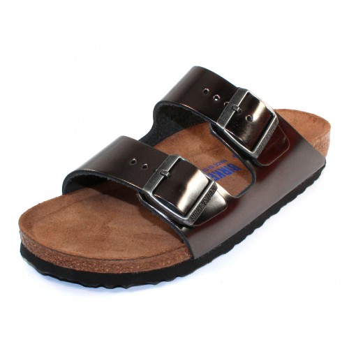 ddd9b9bd00d Birkenstock Women s Arizona Soft Footbed In Anthracite Leather