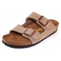 Birkenstock Men's Arizona In Taupe Suede - Narrow Width
