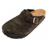 Birkenstock Men's Boston Soft Footbed In Mocha Suede