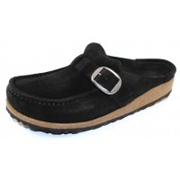 Birkenstock Women's Buckley In Black Suede
