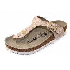 Birkenstock Women's Gizeh In Washed Rose Leather