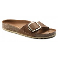 Birkenstock Women's Madrid Big Buckle In Cognac Oiled Leather