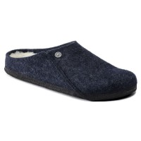 Birkenstock Women's Zermatt Shearling In Dark Blue Wool/Natural Shearling