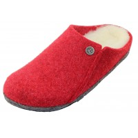 Birkenstock Women's Zermatt Shearling In Red Wool/Natural Shearling