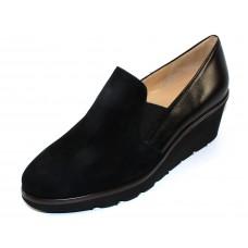Brunate Women's Antoinette In Black Suede/Nappa Leather
