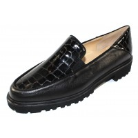 Brunate Women's Carol In Black Nappa Leather/Croco Printed Leather