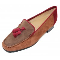 Brunate Women's Luna In Cognac/Taupe/Wine Suede