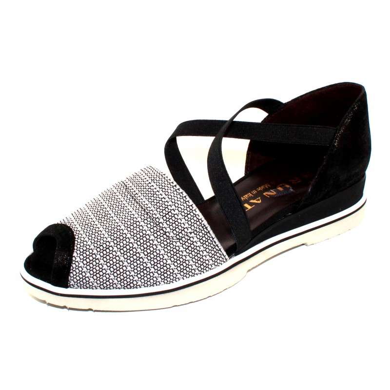 d63612fdef47 Manage Newsletter · Brunate Women s Maggie 11319 In Black White Stretch  Mesh Fabric Black Stretch Embossed Suede