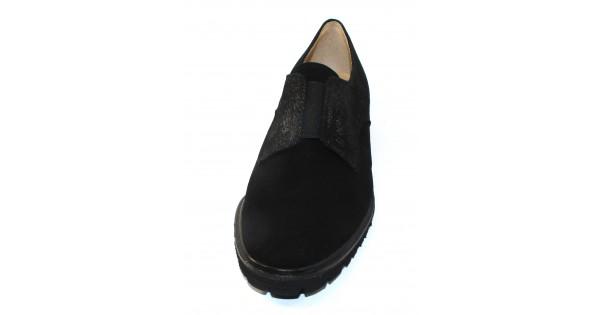 2b7645a54b17 Brunate Women s Suzette In Black Suede Shimmer Embossed Suede