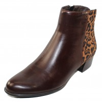 Canal Grande Women's Betty In Castagno/Leopard Printed Leather