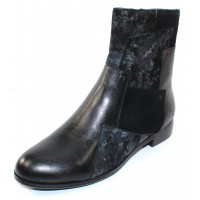 Canal Grande Women's Palma In Black Leather/Suede/Printed Suede