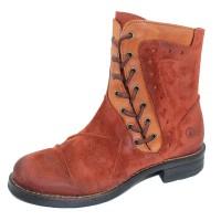 Casta Women's Rasta In Rust Distressed Suede/Cuoio Brown Leather