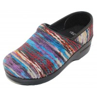 Dansko Women's Coated Yarn Pro In Blue Multi Fabric