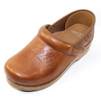 Dansko Women's Embossed Pro In Tan Burnished Leather