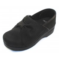 Dansko Women's Pro Bow In Black Milled Nubuck